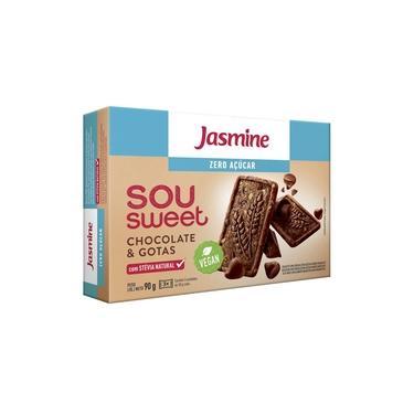Biscoito Jasmine Sou Sweet Chocolate Com Gotas Sem Açúcar 90g