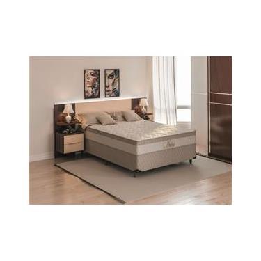 e74e5ab38 Cama Box Casal + Colchão Casal Biflex Ibiza com Euro Pillow One Side e  Molas Superlastic