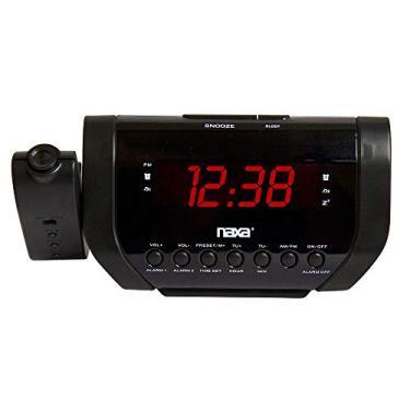 Rádio- relógio digital AM/FM com projetor de horas