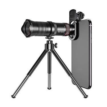 caralin Câmera teleobjetiva universal 15-45X com clipe para telefone celular, lente de zoom, telescópio tripo