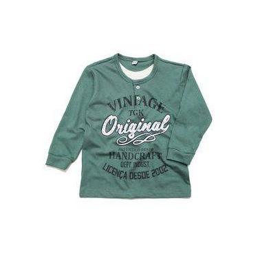 82d151a0a Camiseta Tóing Manga Longa Vintage Verde
