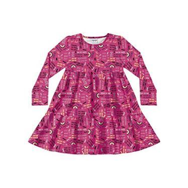 Vestido Estampado Fakini Rosa