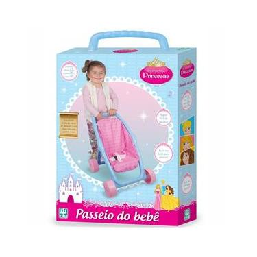 Imagem de Carrinho de Boneca - Era Uma Vez Princesas - Passeio do Bebê - 0790 - Nig Brinquedos