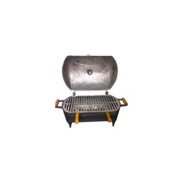 Imagem de Churrasqueira Em Aluminio Fundido Grande Redonda a Bafo