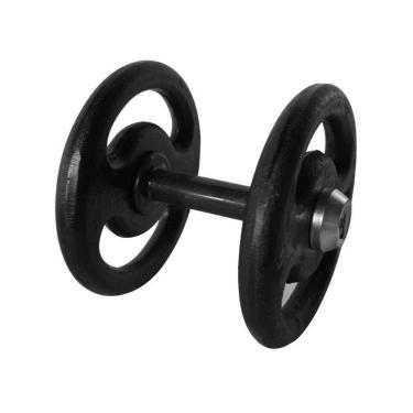 Dumbbell Pintado Pegada Emborrachada Academia Fitness 8Kg