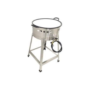 Fritadeira Tacho Esmaltado de Pastel a Gás 10 Litros Óleo Alta Pressão nº10 - Cefaz