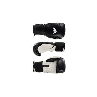 Luva de Boxe Muay Thai Power Colors Preto/branco 16Oz