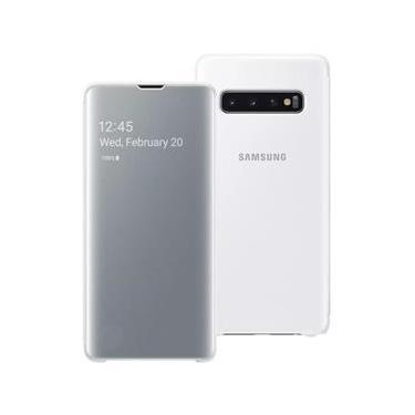 Capa Clear View Branca Samsung Galaxy S10 Plus S10+