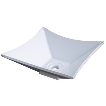 Cuba Pia de Apoio para Banheiro Quadrada Luxo 30 C08 Branco - Mpozenato