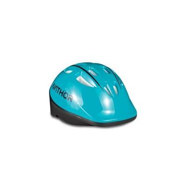 Capacete Infantil Para Bicicleta - Nathor - Azul Turquesa