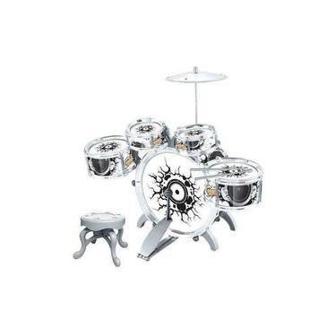 Bateria Iantil Rock Party Com Banquinho Banqueta Pedal - Dm Toys