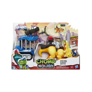 Boneco Plk Chomp Squad Dino Trailer Agente Cela-Hasbro E0833