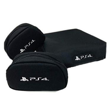 Capa console + 2 cases controle PS4 PRO - Kit 3 Peças