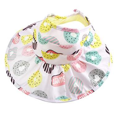 PRETYZOOM Chapéu de sol ajustável vazio dobrável aba grande chapéu de praia proteção UV chapéu infantil adequado para 3 a 8 anos (roxo claro)