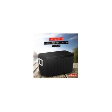 Imagem de Caixa Térmica Cooler Coleman 48QT - 45,4 Litros All Black - Preta - Com Alça e Dreno