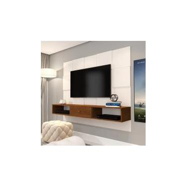 Painel JB 5025 Luxo Sala para TV até 50 Polegadas - Perola/Caramelo - Jb bechara