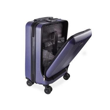 Mala de Bordo Executiva para Notebook para Viagem ABS Roda Dupla Giro 360º Cadeado TSA SWISSLAND Azul