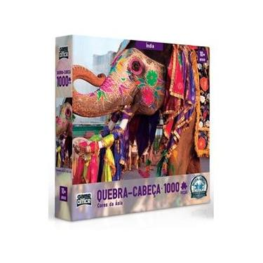 Imagem de Quebra Cab. 1000 Pçs Cores Da Ásia Índia – Toyster 2635