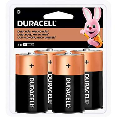 Pilha Alcalina Grande D Duracell, Duracell, D C/4, Copper And Black