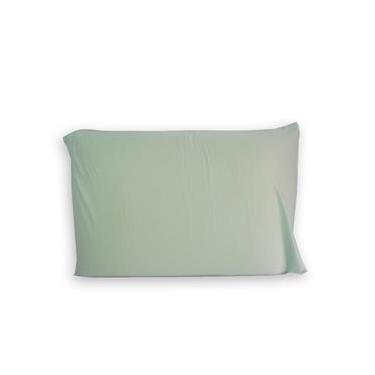 Imagem de Fronha Avulsa Capa de travesseiro Malha Fio 30/1 Penteado 100% Algodão Verde 50x70cm Portallar