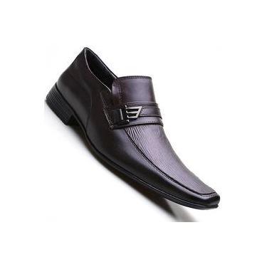 Sapato Social Masculino em Couro Bico Quadrado Pierutti ec1bc100d91