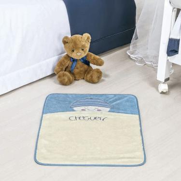 Tapete para Quarto Infantil de Bebê Cheguei para Menino Azul