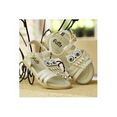 Sandalia Fuffy Bege Infantil 4109-004