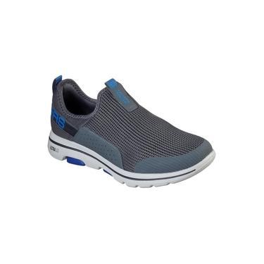 Skechers Sapatilha Masculina 216015 Cor Chumbo/azul