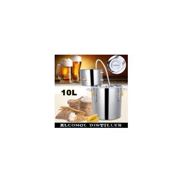 Moonshine 10L Vinho Álcool Cerveja Destilador de Água Inoxidável Casa Equipamento Cerveja Cerveja Kit