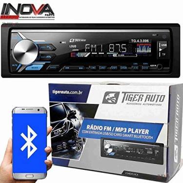 Imagem de AUTO RADIO Som Automotivo Mp3 Player Tiger Auto C/Bluetooth Usb,sd,aux,fm e app