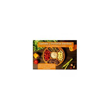 Imagem de Petisqueira Gamela Bandeja em Bamboo com 5 Divisorias