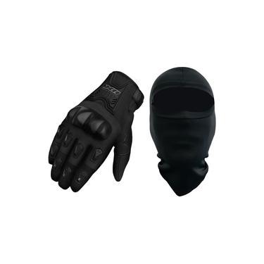 Luva X11 Blackout Com Proteção Motociclista + Balaclava