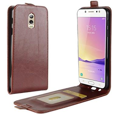 Zl One Compatível com/Substituição para Capa de telefone Samsung Galaxy J7+ J7 Plus J7310 Couro Poliuretano Proteção Cartão Compartimentos Capa carteira Capa flip (Marrom)