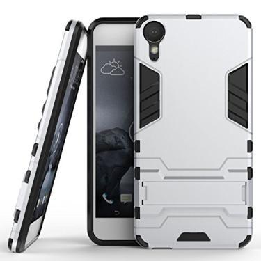 SCIMIN Capa para HTC Desire 10 Lifestyle, capa híbrida para HTC Desire 10 Lifestyle, capa rígida de proteção de camada dupla à prova de choque híbrida resistente com suporte para HTC Desire 10 Lifestyle de 5,5 polegadas