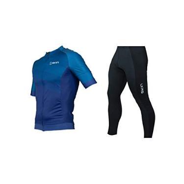 Conjunto Ciclismo Bike Oggi Skin Woom Camisa Manga Curta Calça Pro Forro Endurance (Azul Skin, M)