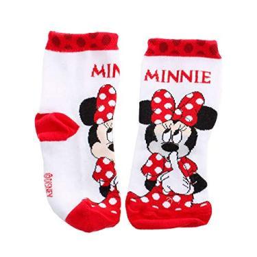 Meia Infantil Lupo Minnie Branco/Vermelho