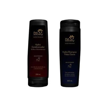 Kit Pet Society Super Premium Condicionador + Shampoo Pelos Claros