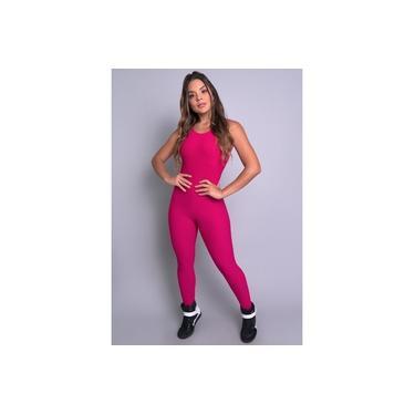 Macacão Feminino Longo Tecido Bolha Liso Fitness Panicat Mvb Modas