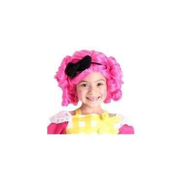 Imagem de Peruca Infantil Cabelo Rosa Enrolado Boneca Lalaloopsy Crumbs