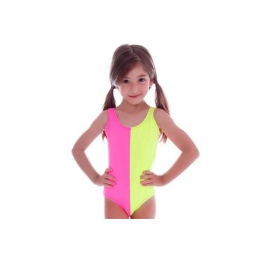 Maiô Infantil Rosa Neon - Cecí