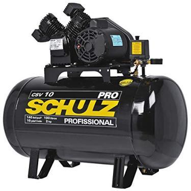 Compressor de Ar 10 Pés 100L 2HP 140PSI Monofásico 110V-SCHULZ-PROCSV10/100