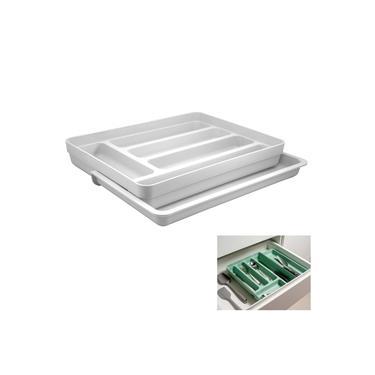 Imagem de Organizador De Gaveta Divisor Porta Talheres Extensível Cozinha Logic - OL 650 Ou