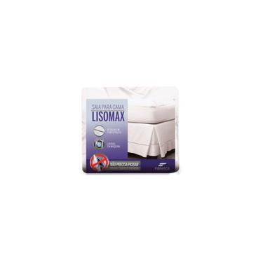 Imagem de Saia Para Cama Box Casal Lisomax Branca 140X190X33 Fibrasca