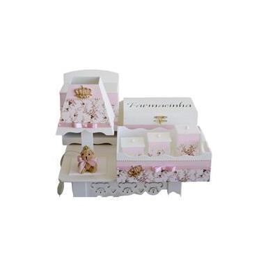 Kit Higiene Mdf Feminino Rosa Quarto Bebê