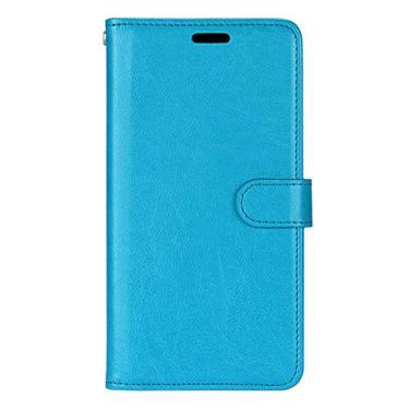 Capa para Nokia 2.2 proteção de couro PU com 3 compartimentos para cartões capa flip (Azul)