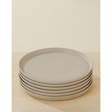conjunto c/ 6 pratos raso neo