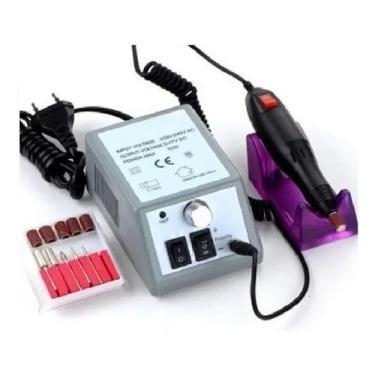 Imagem de Lixa Unha Lixadeira Elétrica Motor Manicure Profissional Bivolt Portát