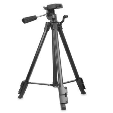 Tripé Kingjoy VT-910 com Cabeça de Vídeo Panorâmica 360° para Câmeras e Filmadoras