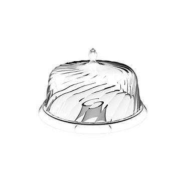Boleira Plástica com Pé 30cm Cristal - Crippa
