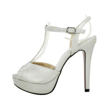 178fac3d9 Sandália Festa Week Shoes Glitter Prata feminino